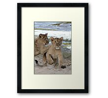Tackle!! Framed Print