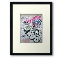 wall graffity2 Framed Print