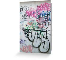 wall graffity2 Greeting Card