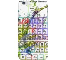 Colorful Periodic Table Of The Elements  with liquid splatters. iPhone Case/Skin