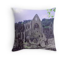 Tintern Abbey 1113 century built by monks rebuilt in 13th and 14th centuries Throw Pillow
