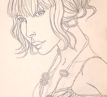 quick line drawing by Leanne Inwood