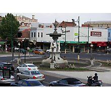 Bendigo Fountain, Bendigo, Bird's Eye View. Photographic Print
