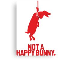 Not a Happy Bunny Canvas Print