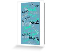 Bondi Beach! Beachy Blue Greeting Card
