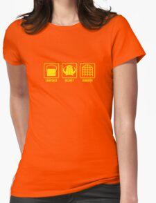 Knapsack, Helmet, Dungeon Womens Fitted T-Shirt
