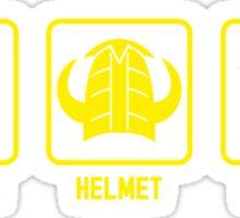 Knapsack, Helmet, Dungeon Sticker