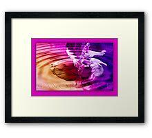 saxophone - purple Framed Print