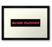 Blade Runner (Red) Framed Print