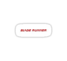 Blade Runner (Red) Sticker