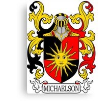 Michaelson Coat of Arms Canvas Print