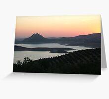Sun Setting Inland Spain Greeting Card