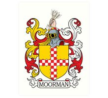 Moorman Coat of Arms Art Print