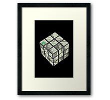 rubix cube dollar Framed Print