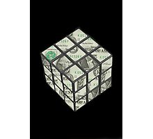 rubix cube dollar Photographic Print