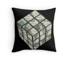 rubix cube dollar Throw Pillow