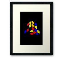Broken Rubix Cube Framed Print