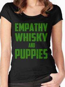 Empathy, Whisky and Puppies Women's Fitted Scoop T-Shirt