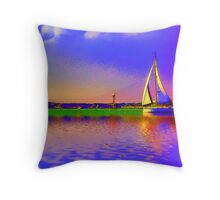 Afternoon sail Throw Pillow