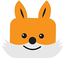 Super cute KAWAII foxy face  Photographic Print