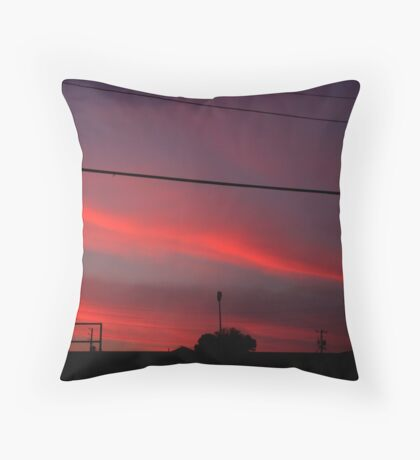 Sky Streaks Throw Pillow