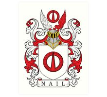 Nail Coat of Arms Art Print
