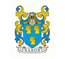 Nason Coat of Arms Art Print