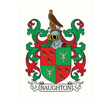 Naughton Coat of Arms Art Print