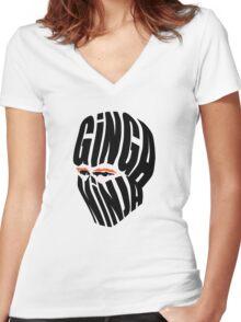 Ginga Ninja Women's Fitted V-Neck T-Shirt
