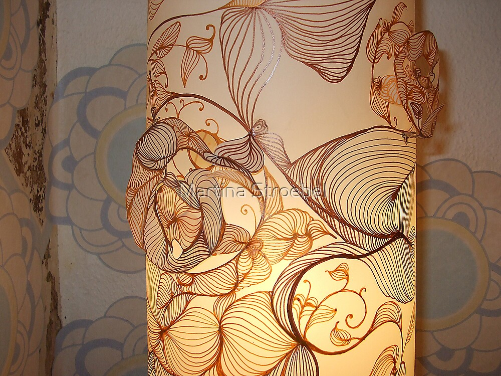 Handmade Paper Lamp + by Martina Stroebel