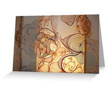 Handmade Paper Lamp + Greeting Card