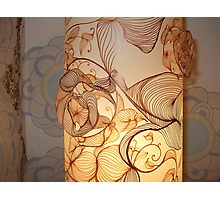Handmade Paper Lamp + Photographic Print