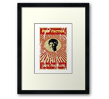 Pulp Faction - Jules Framed Print