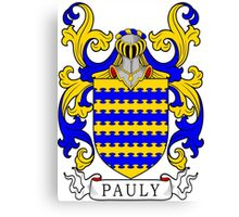 Pauly Coat of Arms Canvas Print