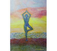 Sunrise yoga Photographic Print
