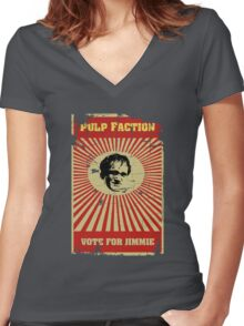 Pulp Faction - Jimmie Women's Fitted V-Neck T-Shirt