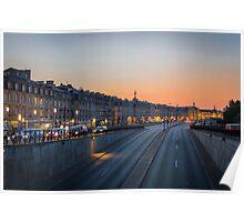 Sunset on Bordeaux Poster