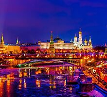 Panoramic View Of Moscow Kremlin by luckypixel