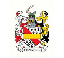 Pennell Coat of Arms Art Print