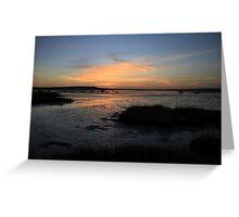 Sunset over Hengistbury Head from Mudeford, Dorset Greeting Card
