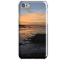 Sunset over Hengistbury Head from Mudeford, Dorset iPhone Case/Skin