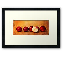 Apples In Red Framed Print