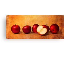 Apples In Red Canvas Print