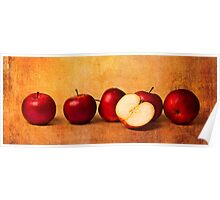 Apples In Red Poster