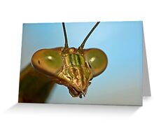 Mantis Face Greeting Card