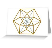 Cuboctahedron, Structur of Universe, Sacred Geometry Greeting Card