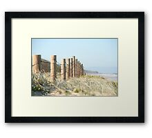 Beached fence Framed Print