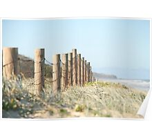 Beached fence Poster