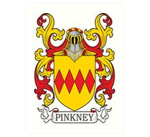 Pinkney Coat of Arms Art Print