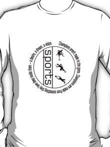 Sports (black text) T-Shirt
